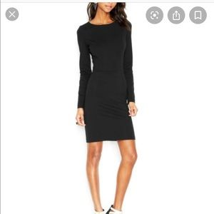 Bar III Cute Long-Sleeve Black Dress